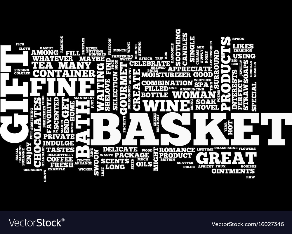 Gift baskets for women text background word cloud