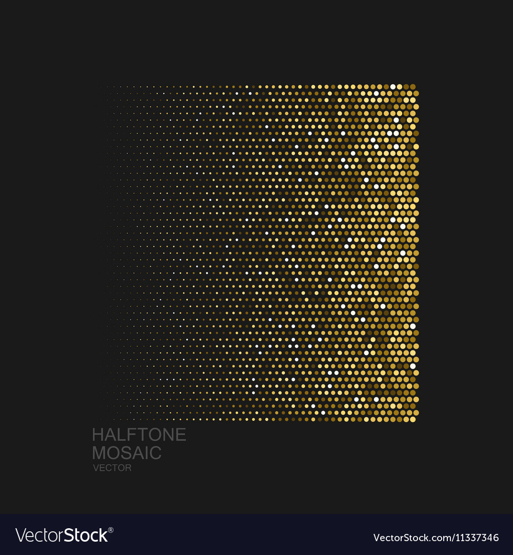 Golden halftone pattern