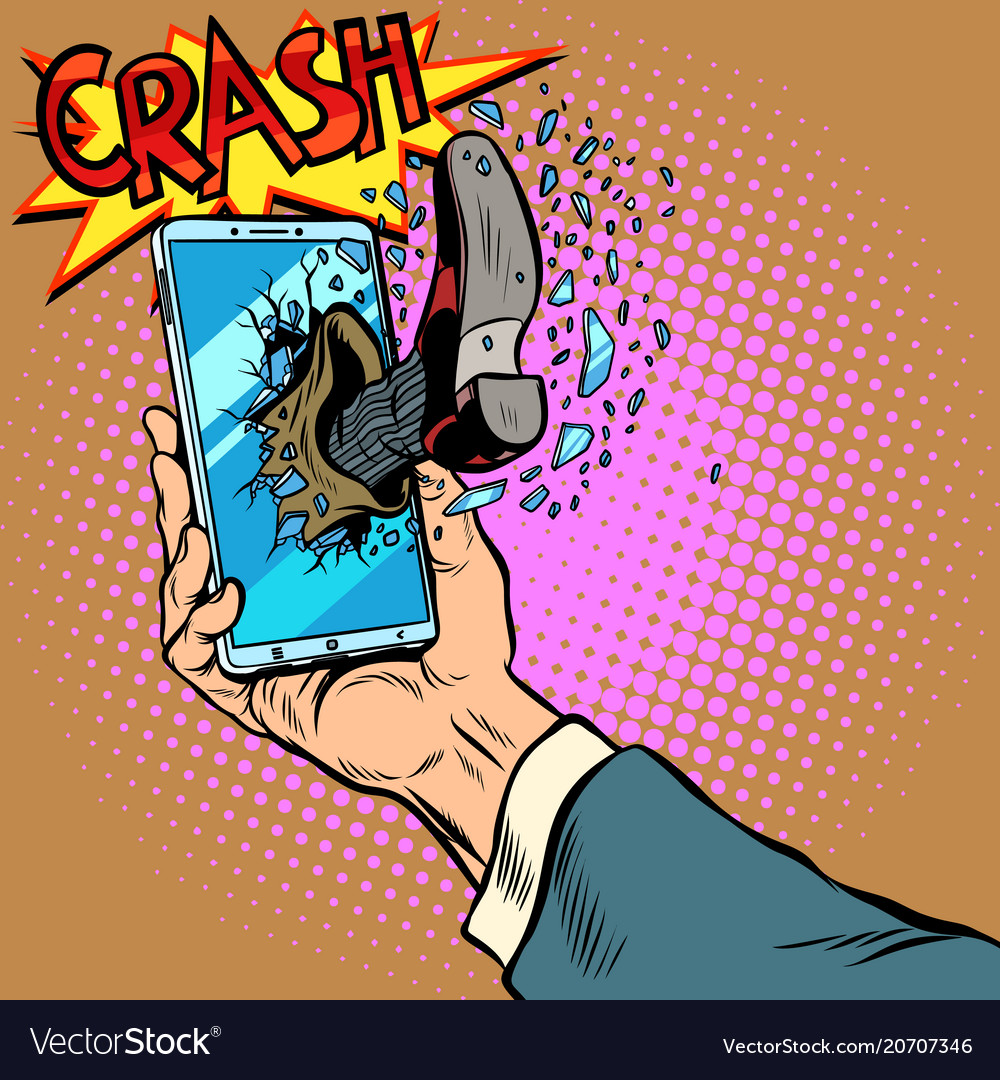 Hacking the phone concept leg breaks smartphone