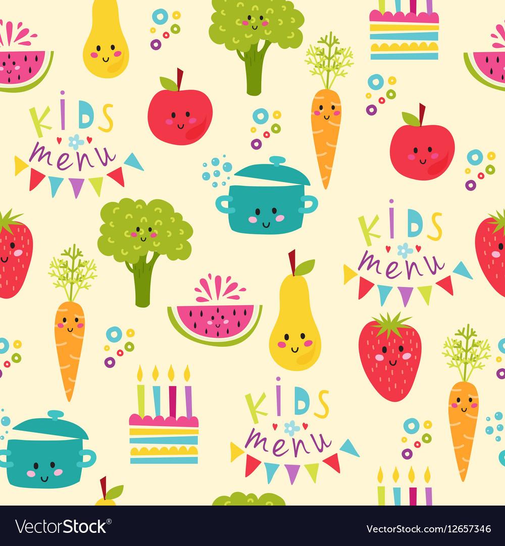 Kids food menu background