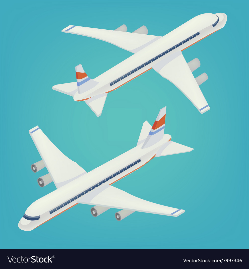 Passenger Airplane Isometric Passenger Airliner