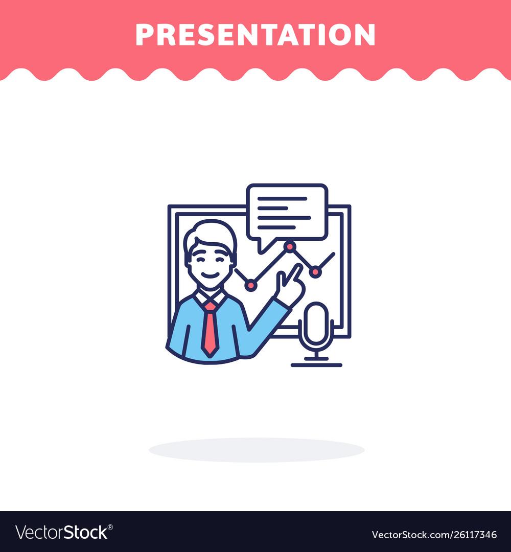 Presentation icon flat design ui icon