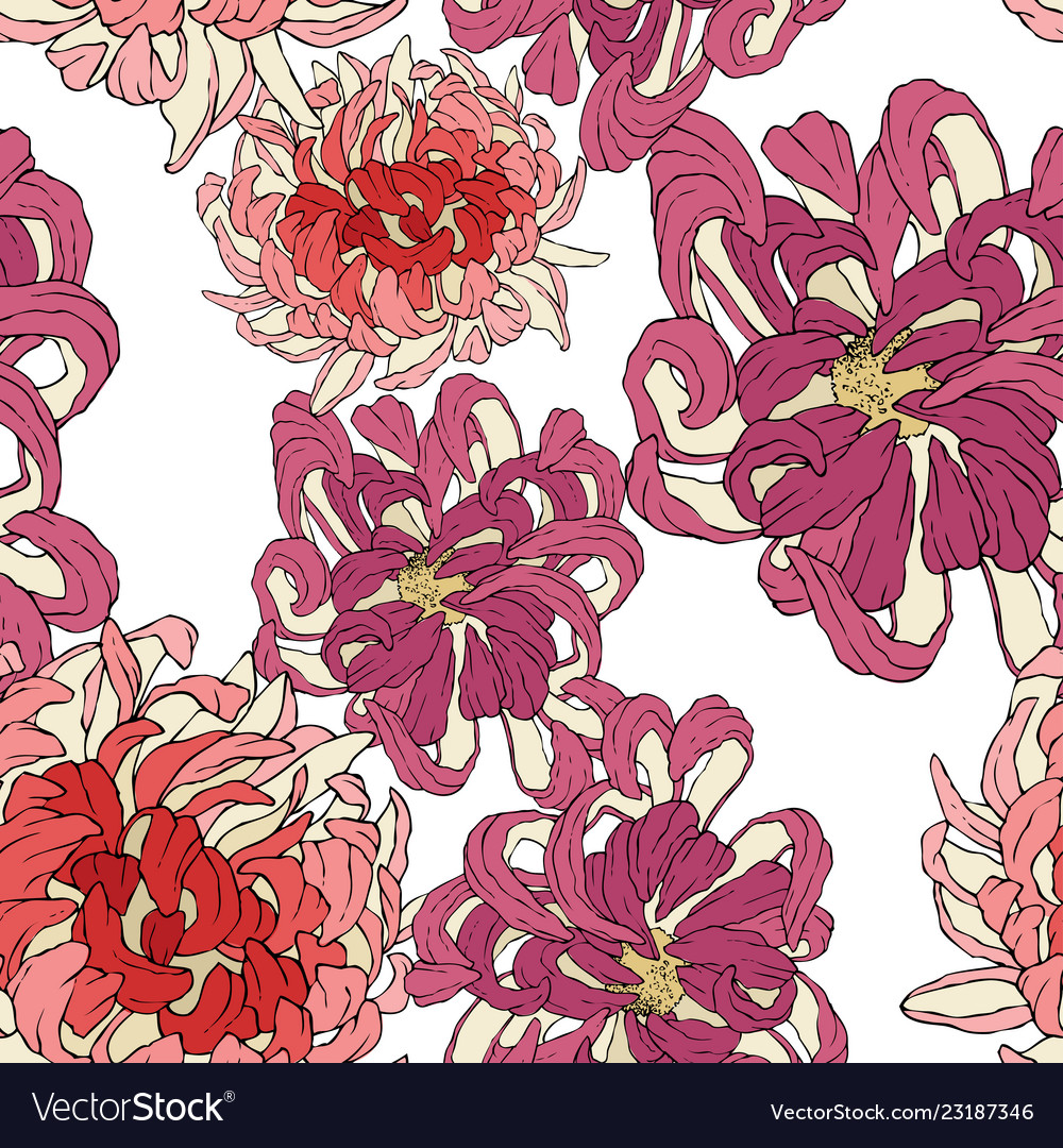 Seamless Floral Wallpaper Decorative Royalty Free Vector