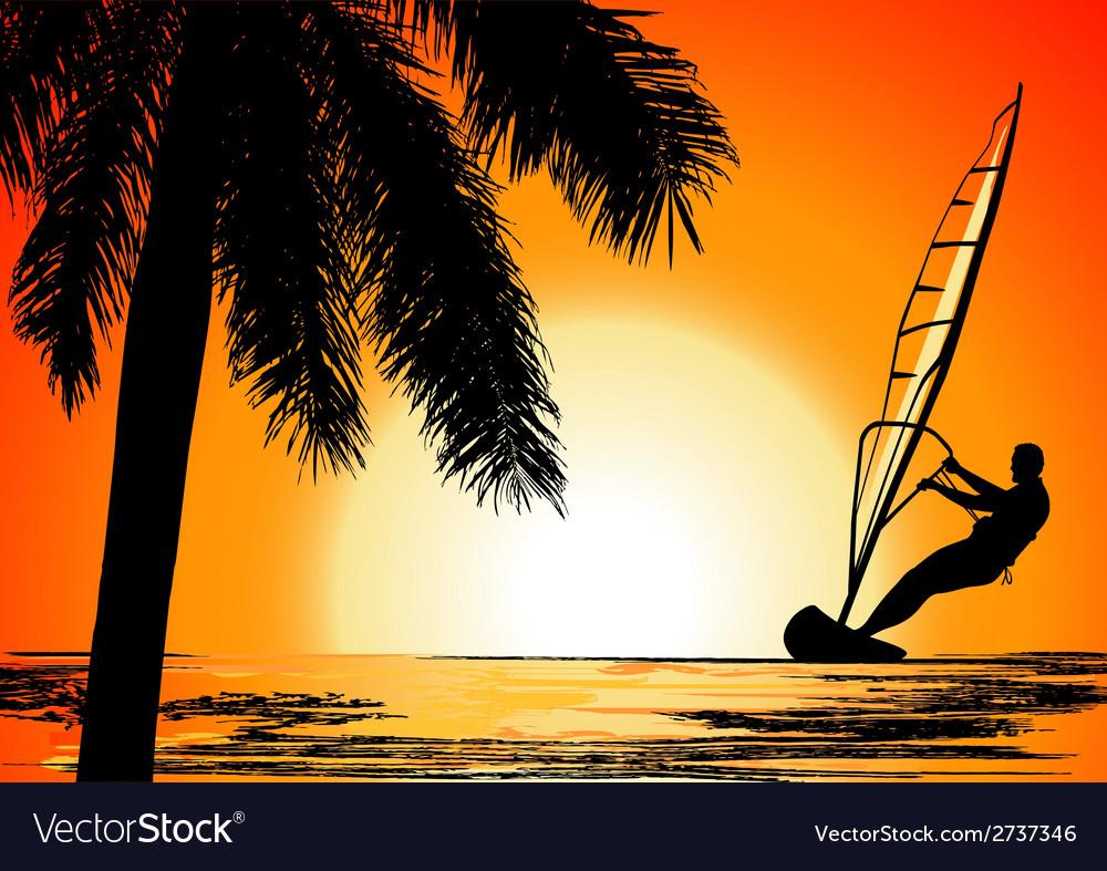 Surfer Paradise place vector image