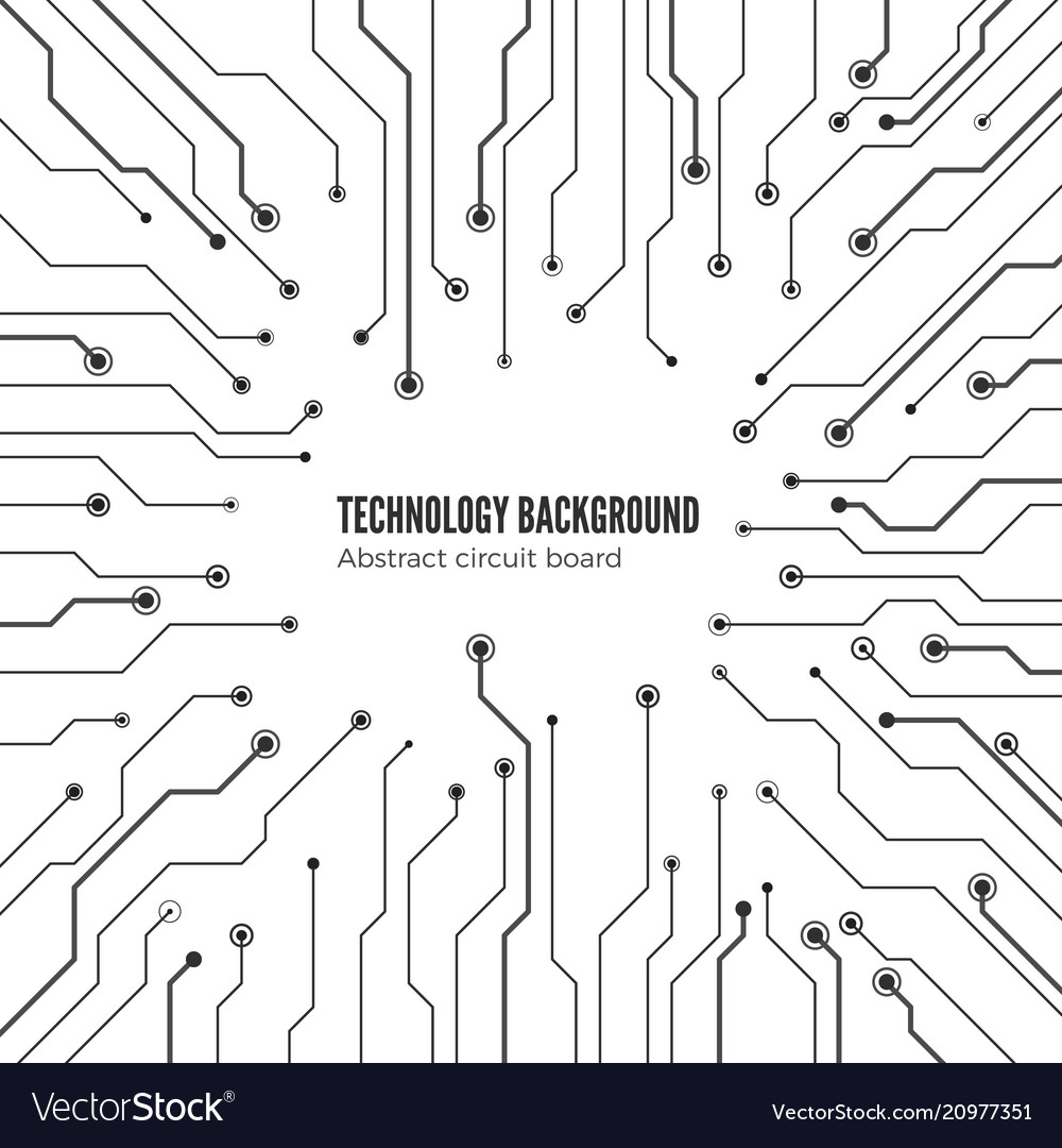 Concept of circuit board background isolated on vector image