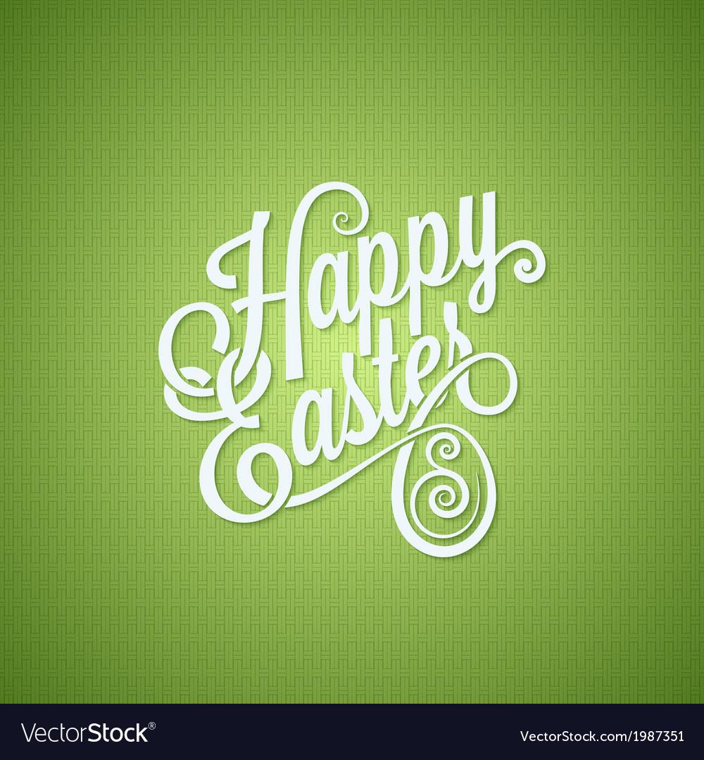 Easter egg vintage lettering design background