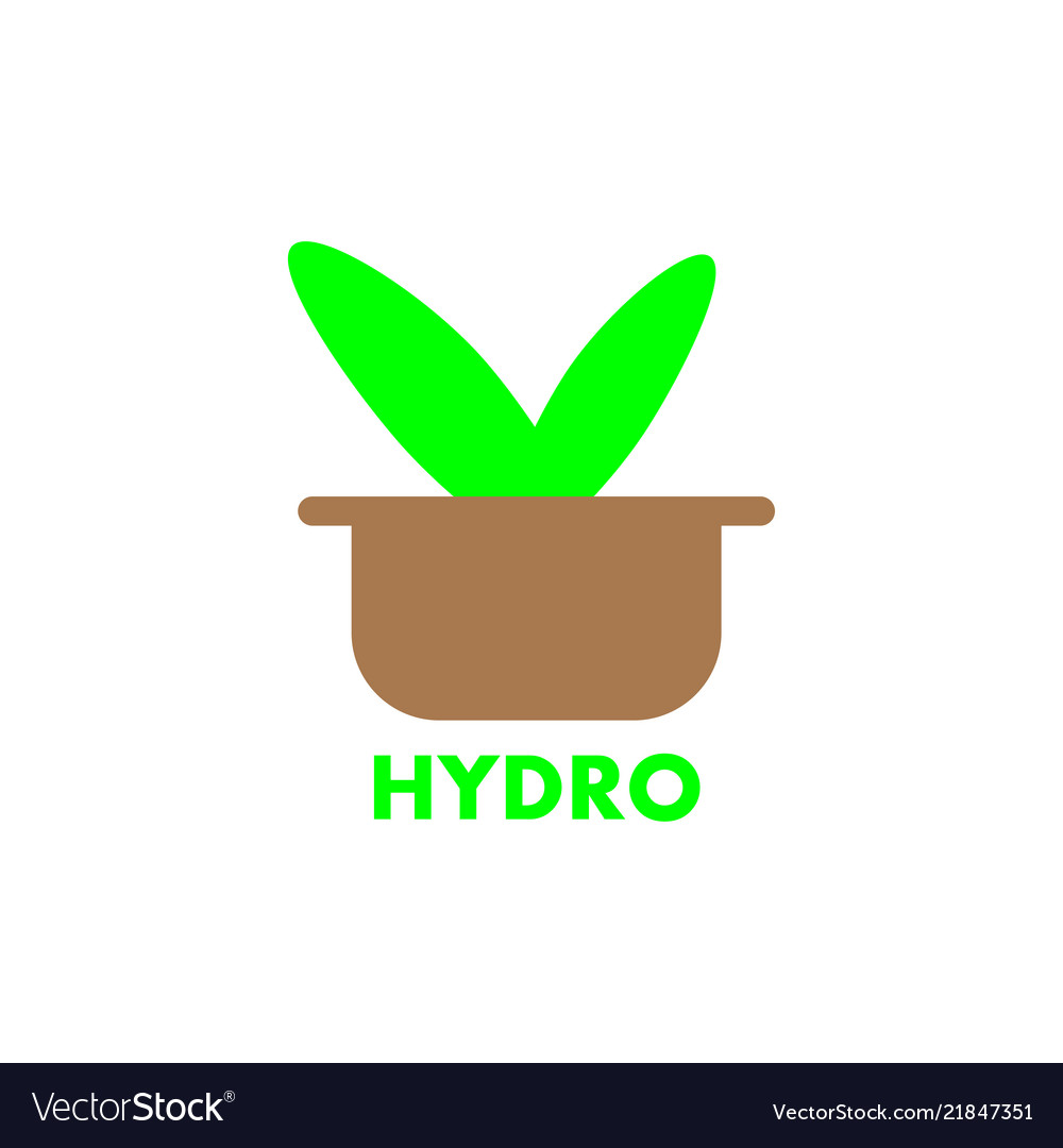 Hydroponics solid iconsisolated on white