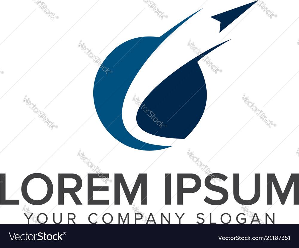 Paper plane launch logo technology logo design