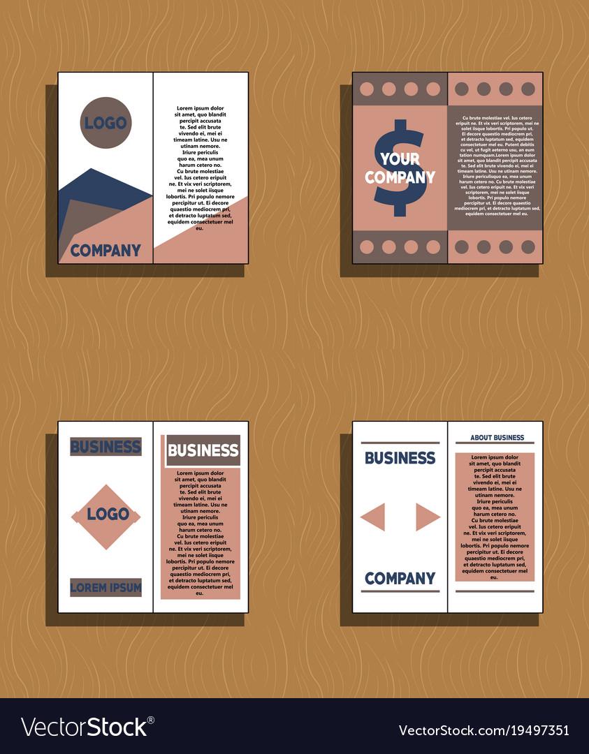Set Of Flyer Design Template Brochure Annual Vector Image