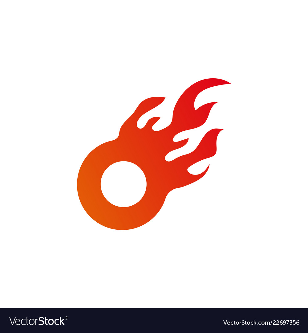 Circle flame graphic design element template