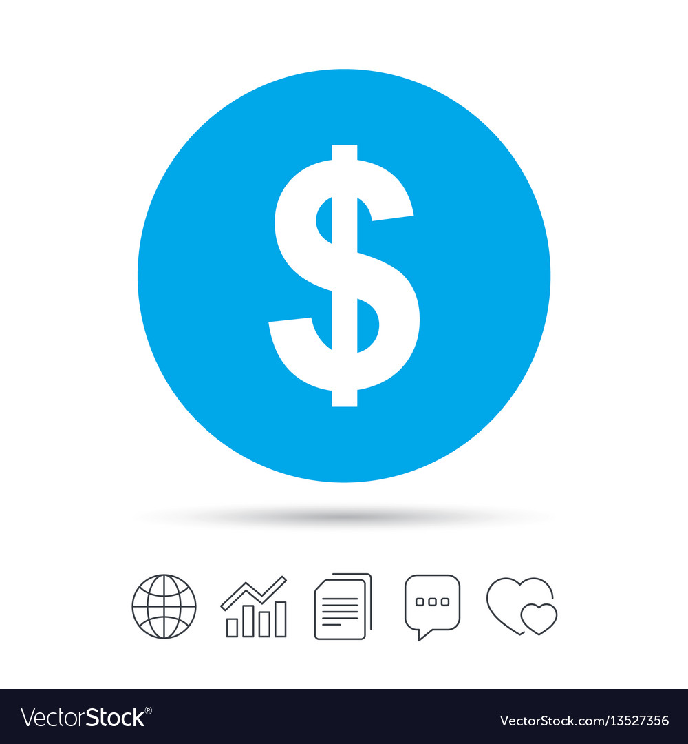 Dollar Sign Icon Usd Currency Symbol Royalty Free Vector