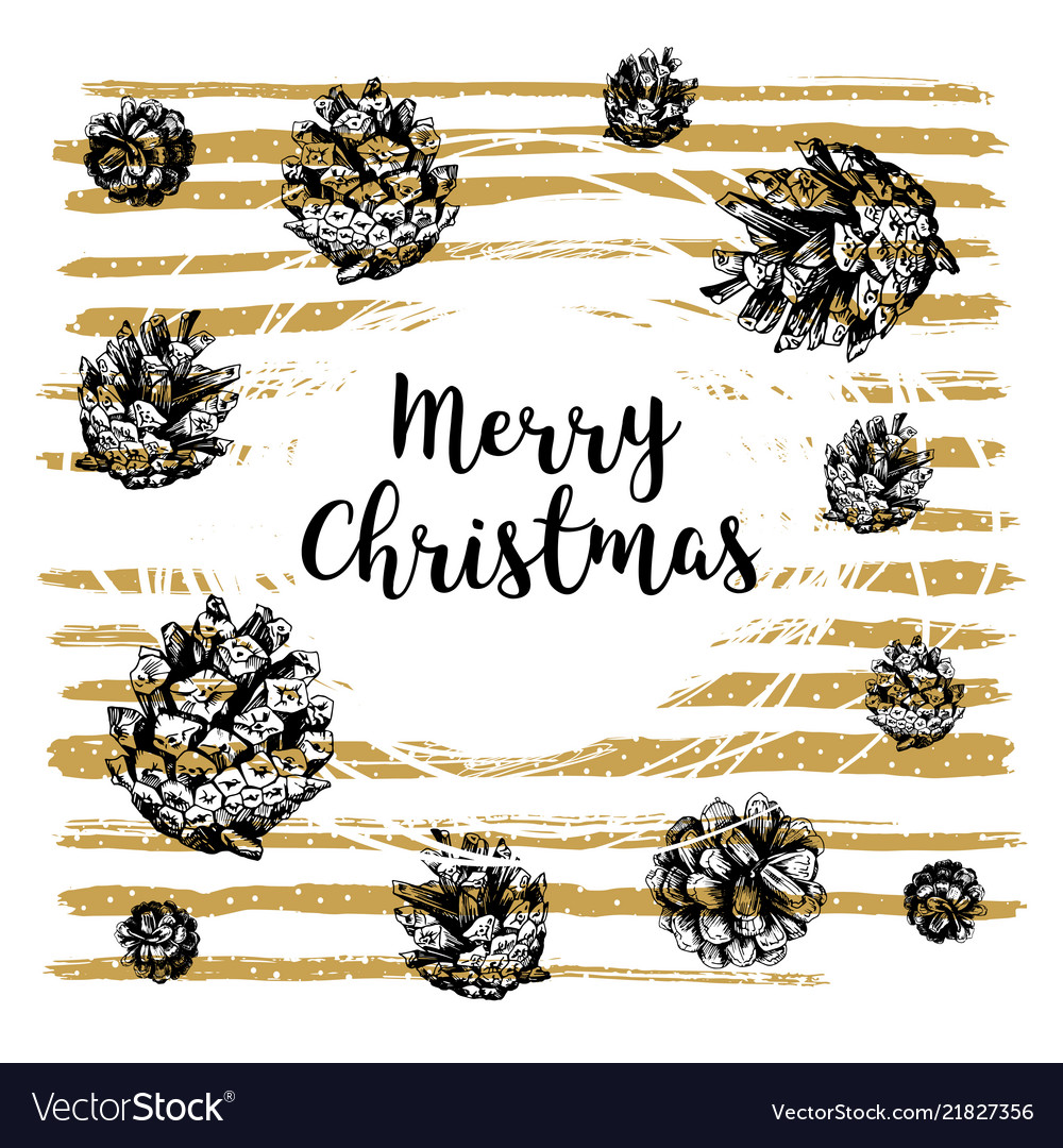 Hand drawn christmas card with lettering