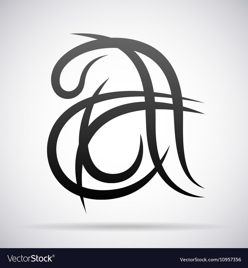Letter A icon Design template