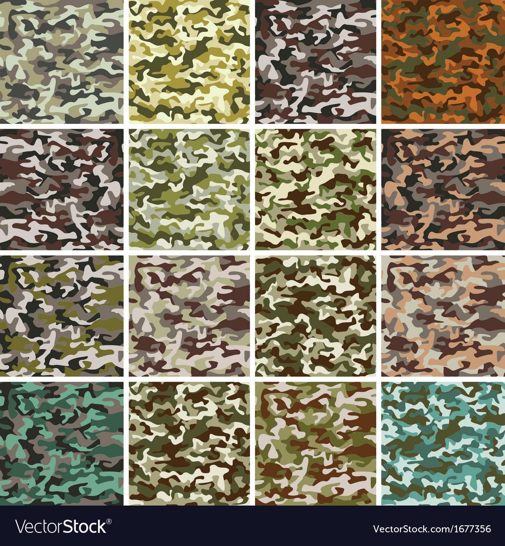 Mega Set of Seamless Camouflage Pattern