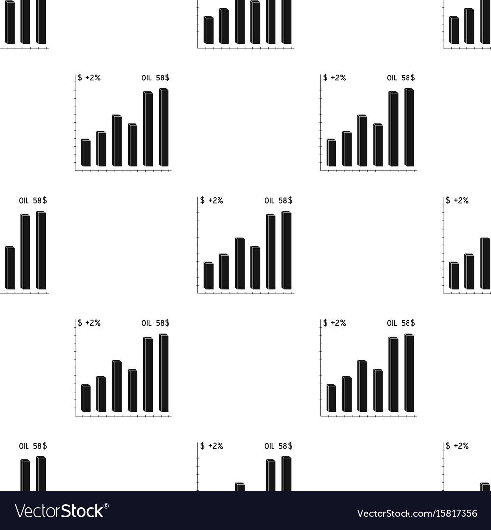 Oil price chartoil single icon in black style vector image