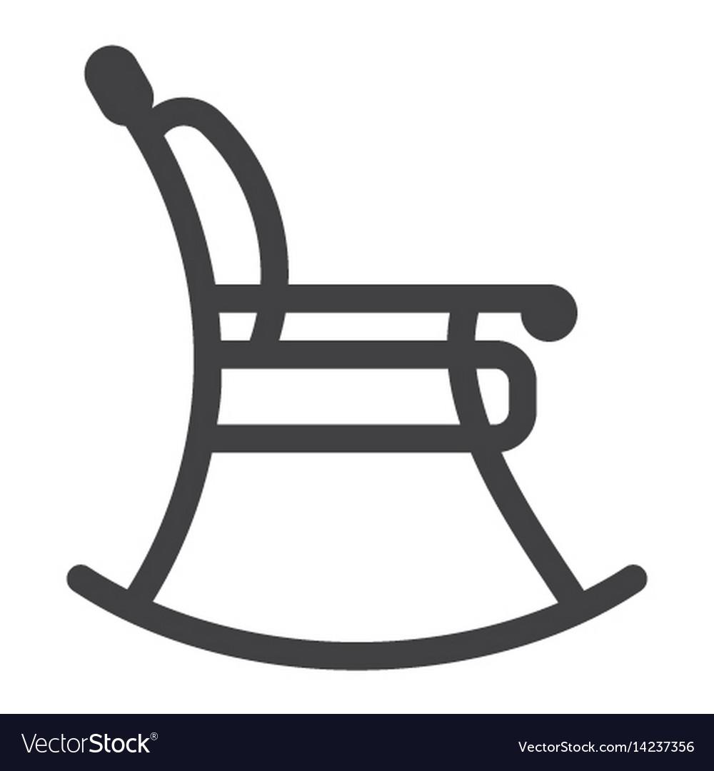 Surprising Rocking Chair Line Icon Furniture And Interior Inzonedesignstudio Interior Chair Design Inzonedesignstudiocom