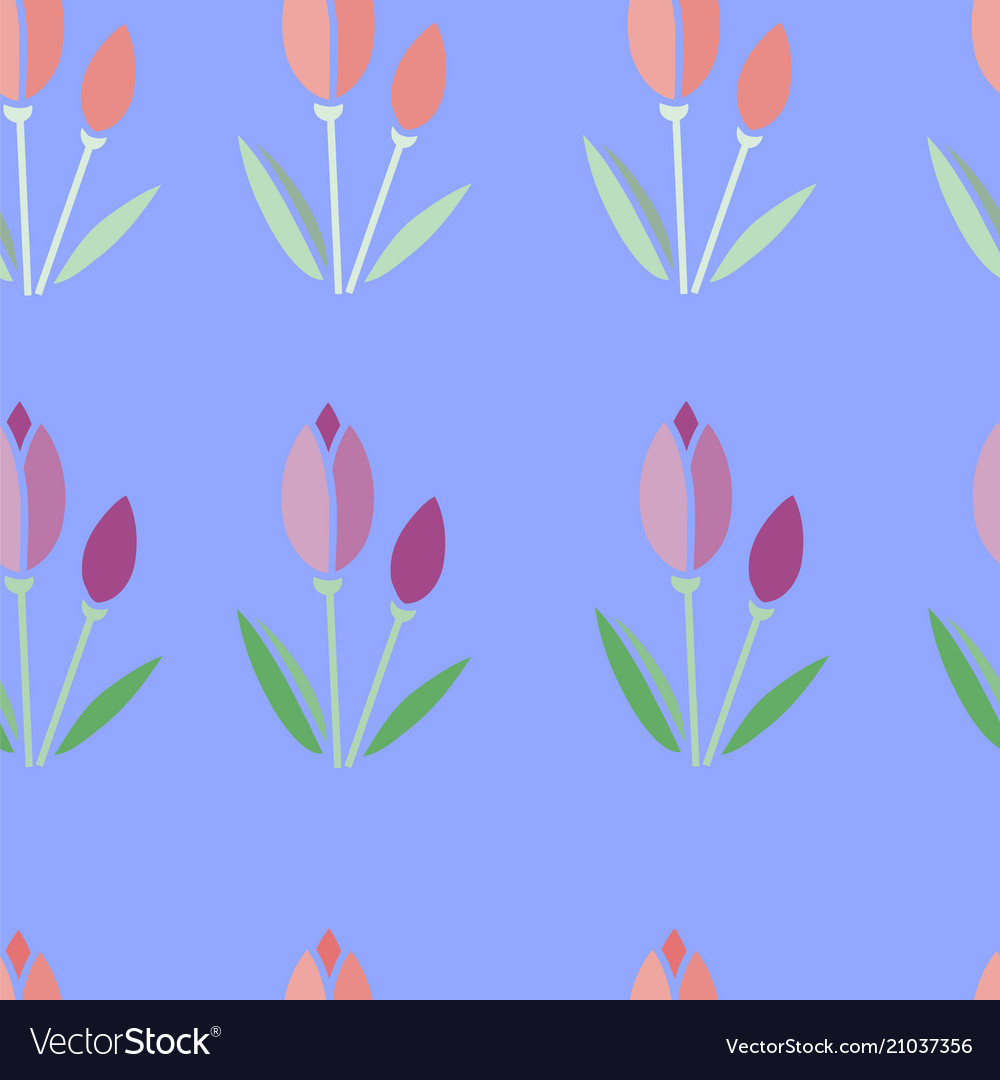 Seamless pattern tulips