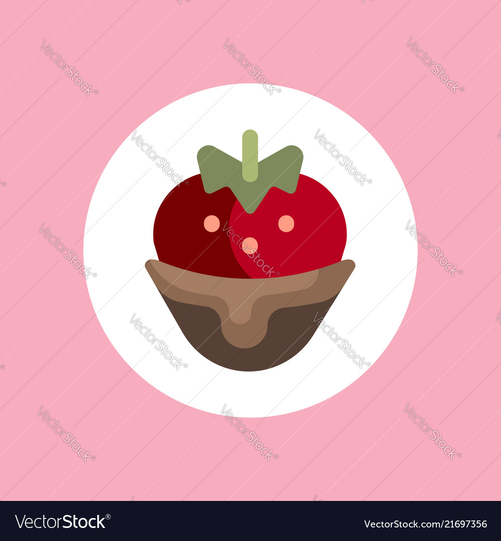 Strawberry icon sign symbol