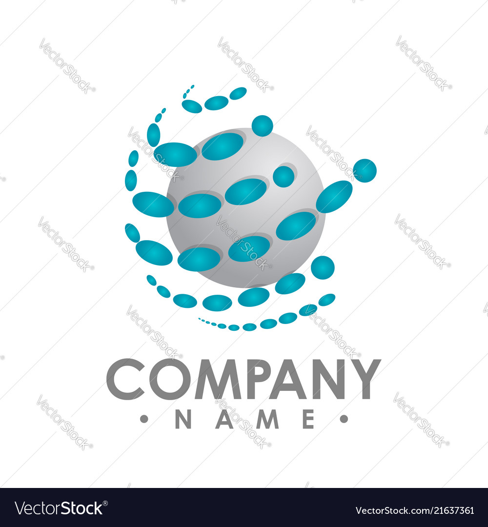 Abstract random blue dots design template on a