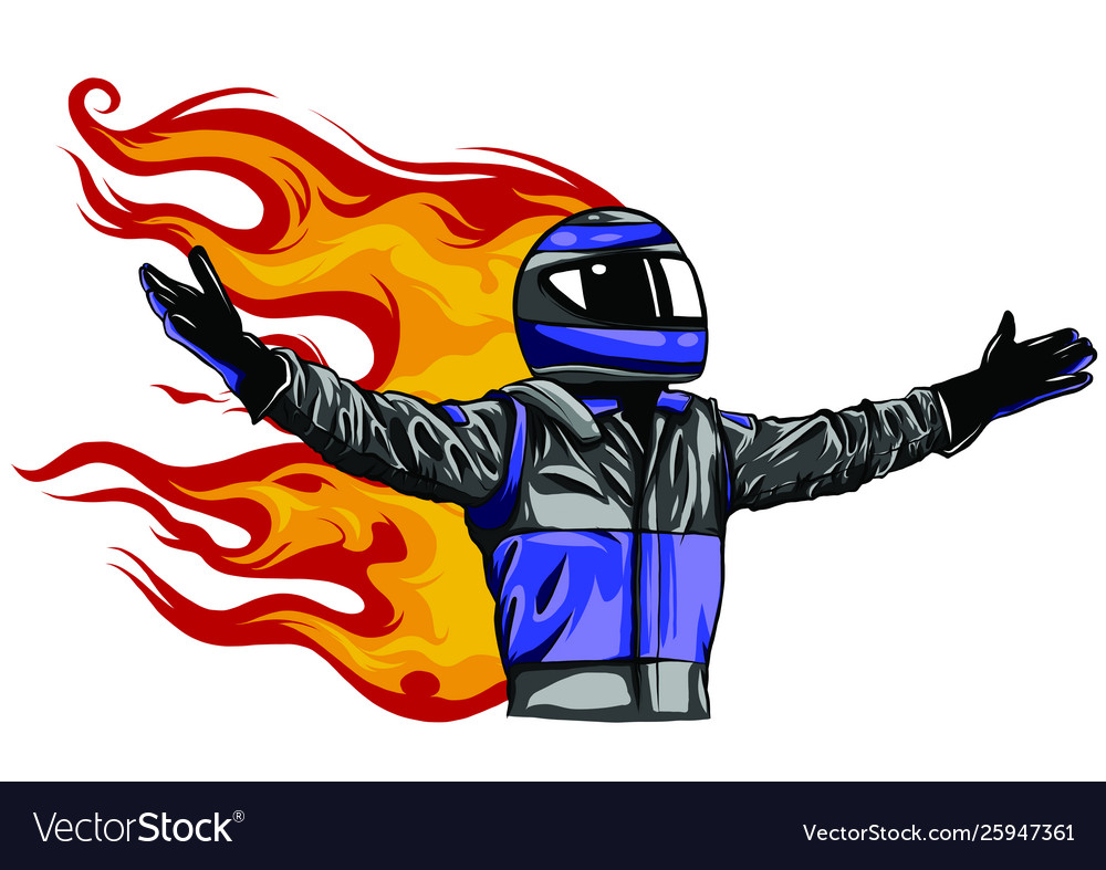 Car racing man cartoon design