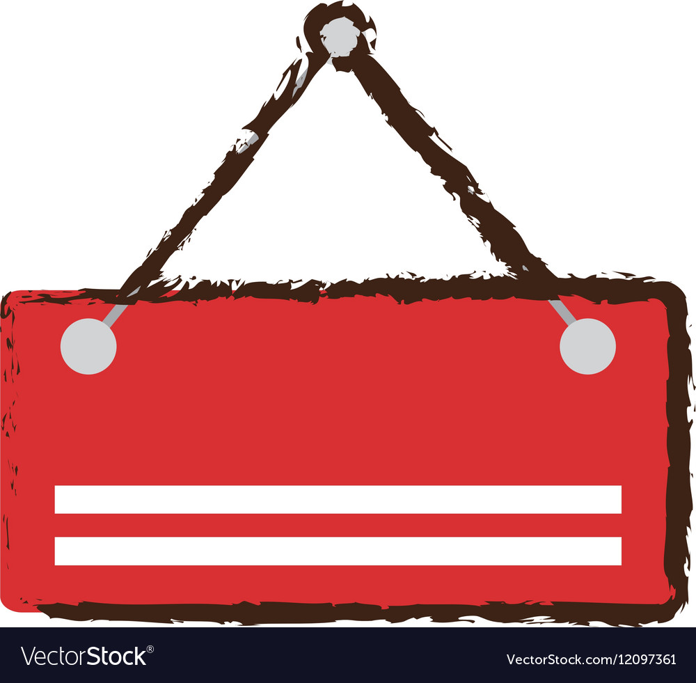 Card sign empty hanging sketch vector image