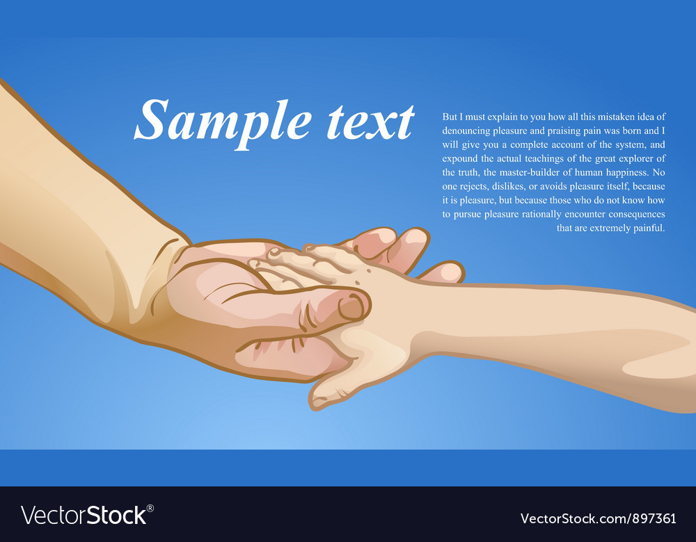Childrens hand in the hand of an adult vector image