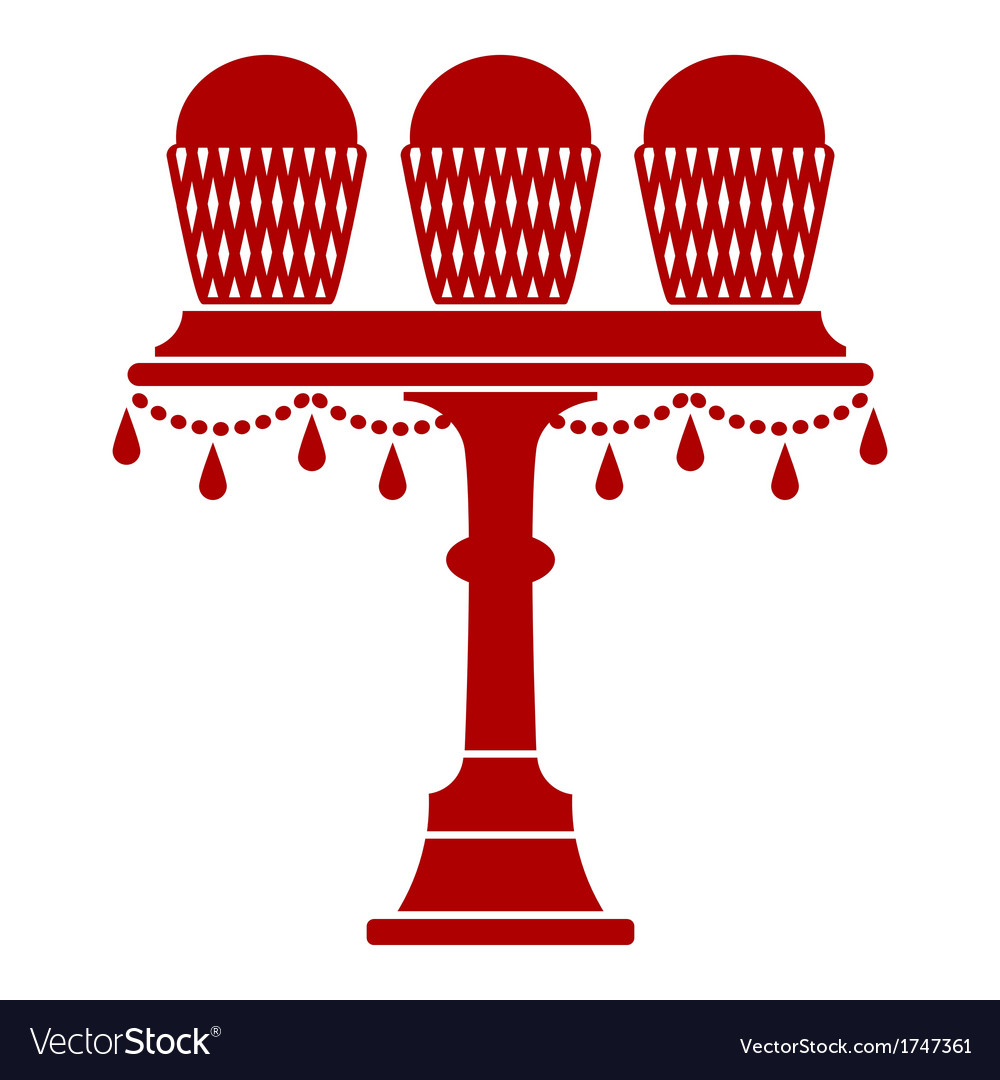 Cup Cake Stand With Drops vector image