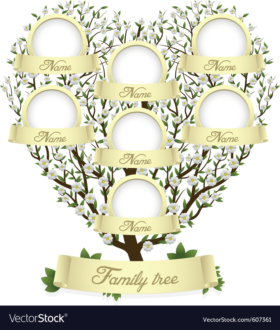 Family tree in heart shape