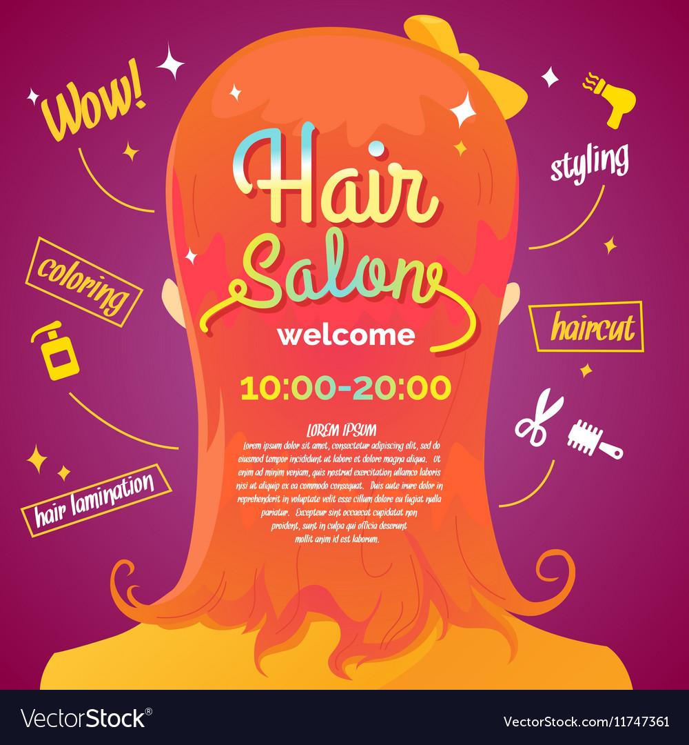 Hair salon and poster