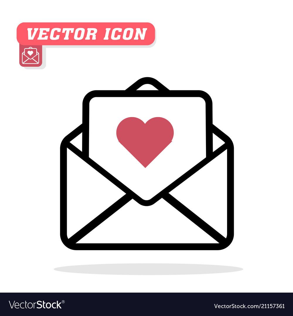 Love letter icon white background im