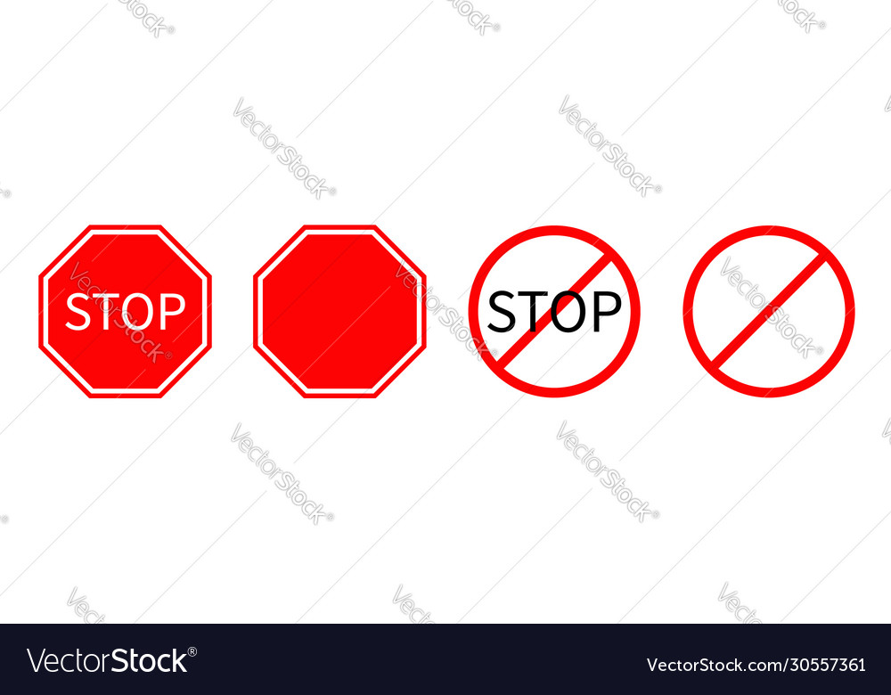 Prohibition no symbol red round stop warning road