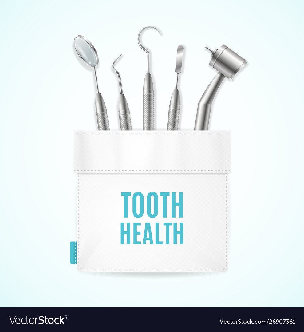 Tooth health concept banner card with realistic 3d