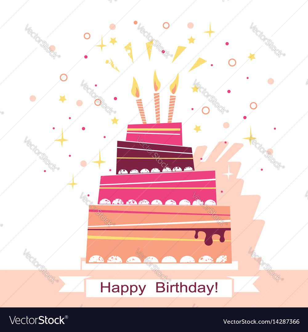 Birthday sweet cake card