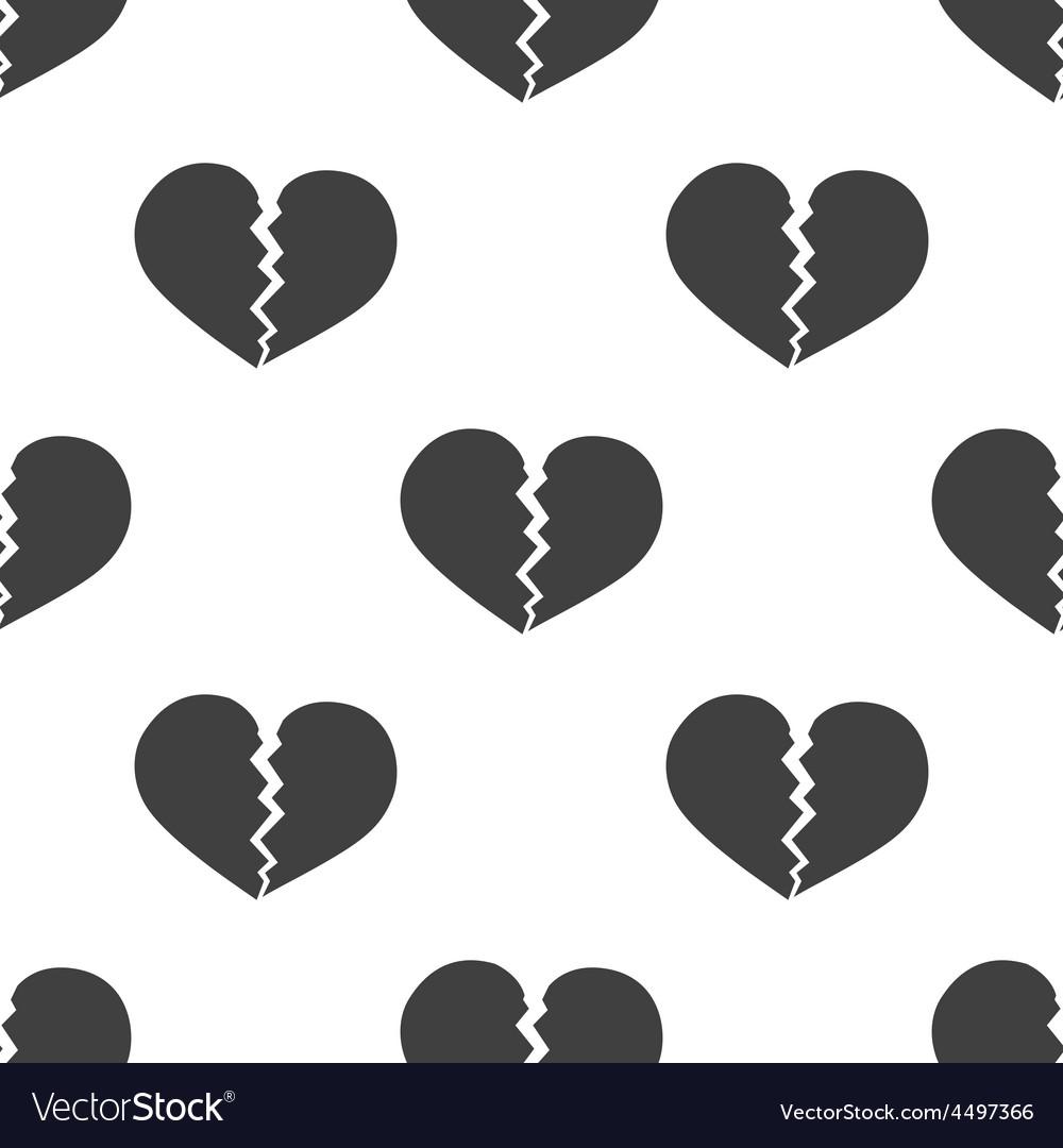 Broken heart seamless pattern