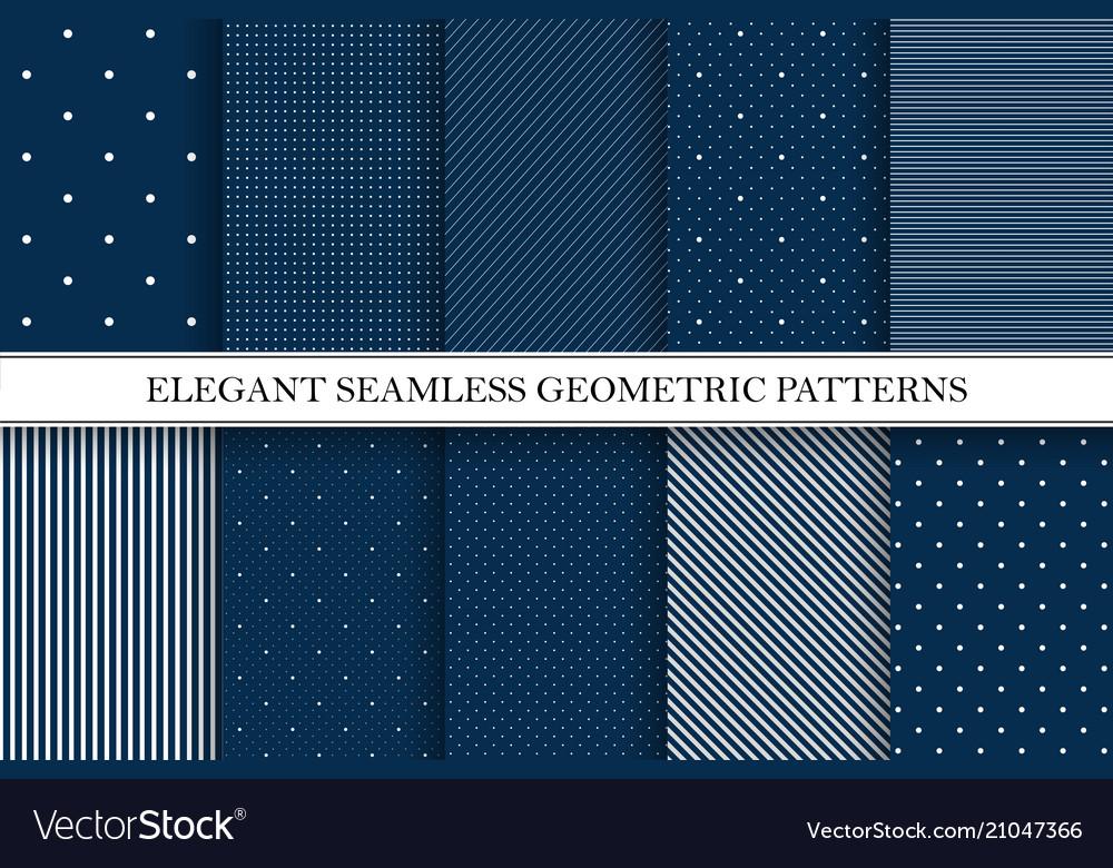 Collection elegant patterns - seamless
