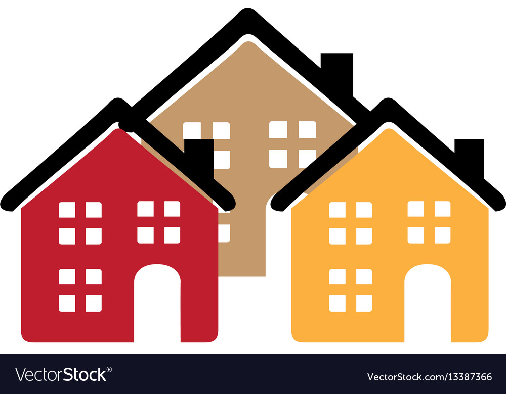 color silhouette with group of houses royalty free vector rh vectorstock com japanese house silhouette vector tree house silhouette vector