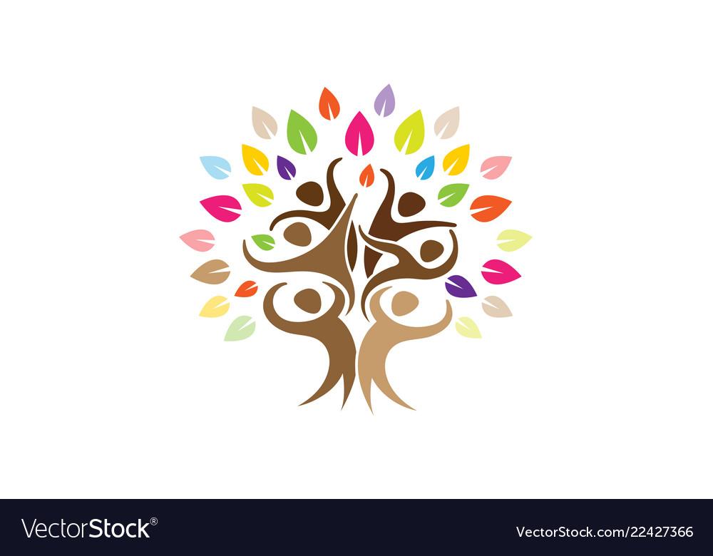 Creative people tree logo