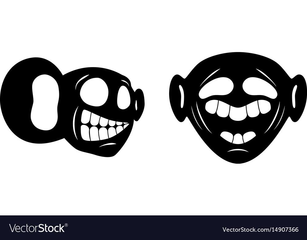 Face cartoon character
