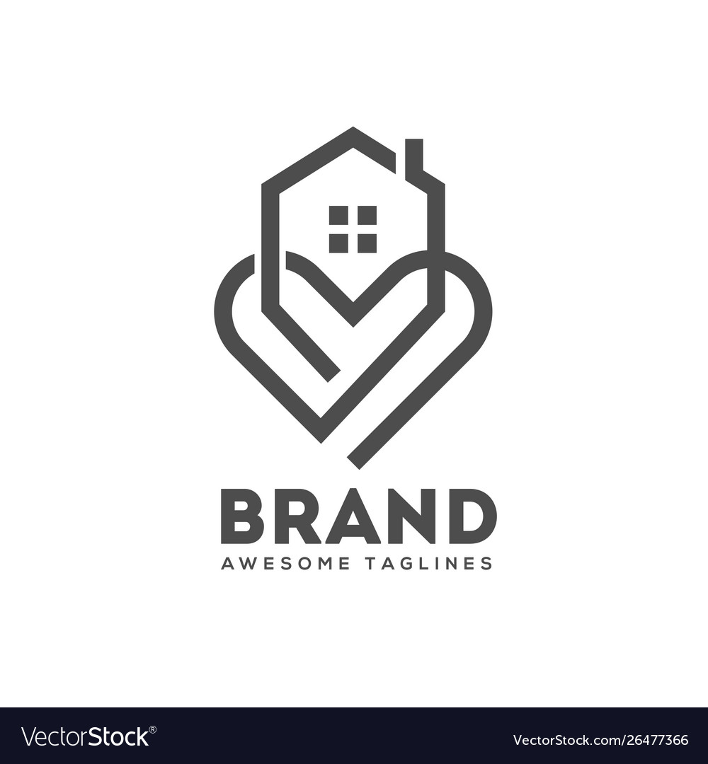 House and heart logo