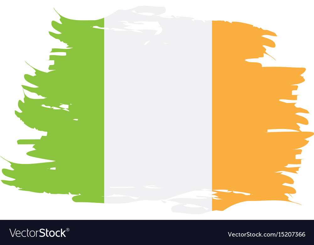 Isolated irish flag vector image