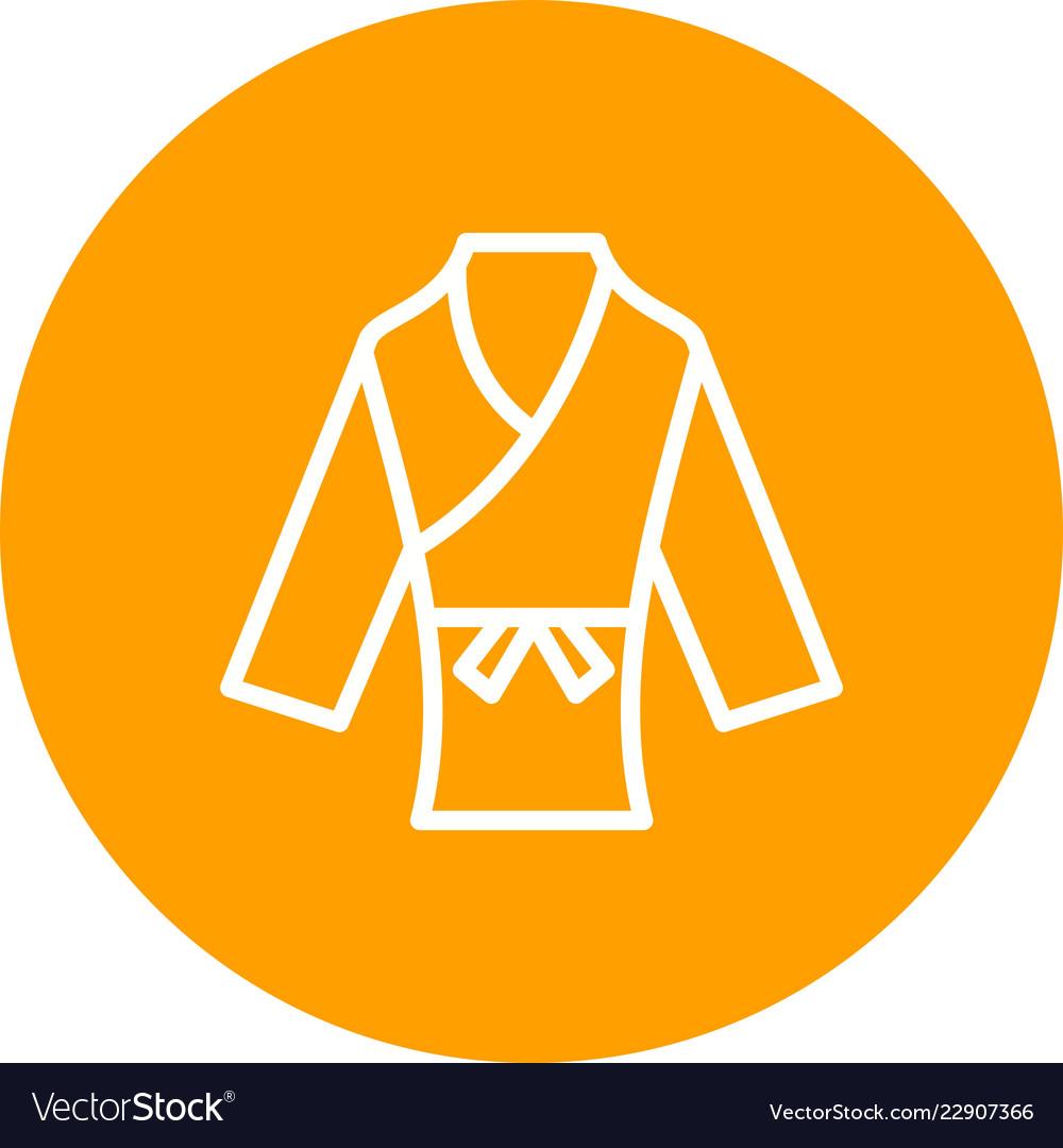 Karate Icon Royalty Free Vector Image Vectorstock