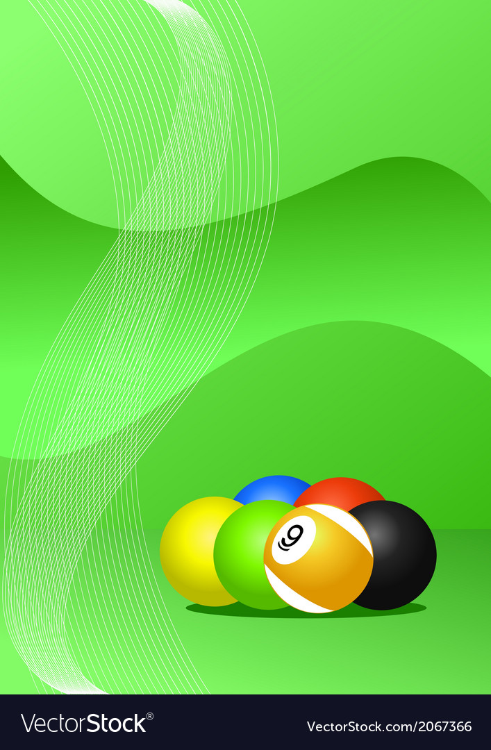 Pool balls background vector image