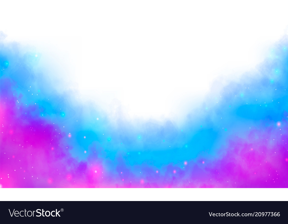 Purple and blue fantasy watercolor fog background