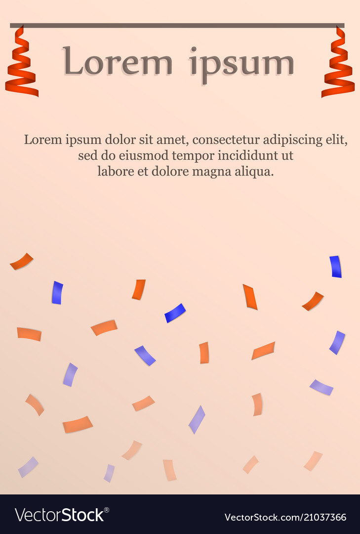 Serpentine party card concept background vector image