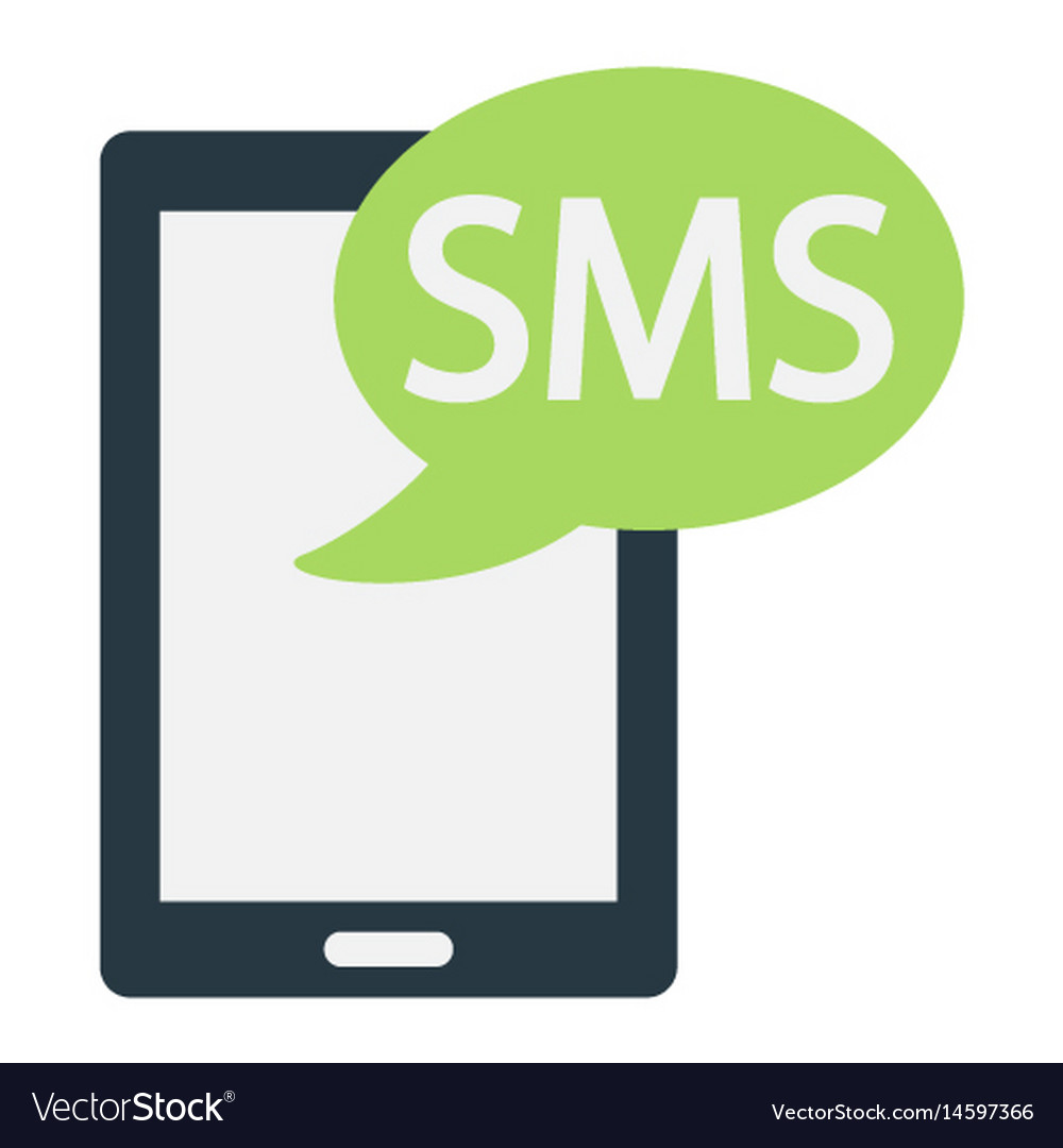 Sms flat icon contact us and website