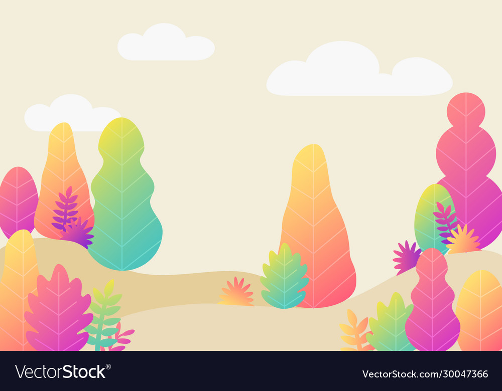 Trendy fantasy background with plants modern