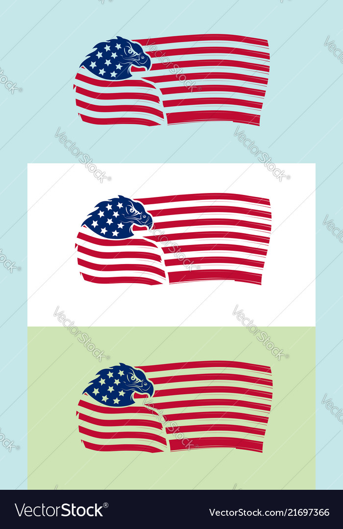 719984fa539 us flag with eagle on various backgrounds vector image .