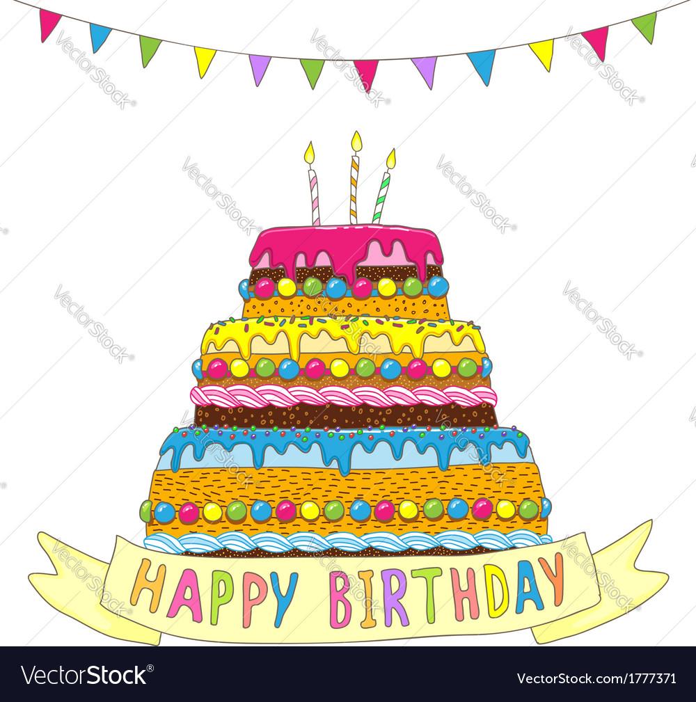 Birthday cake garland