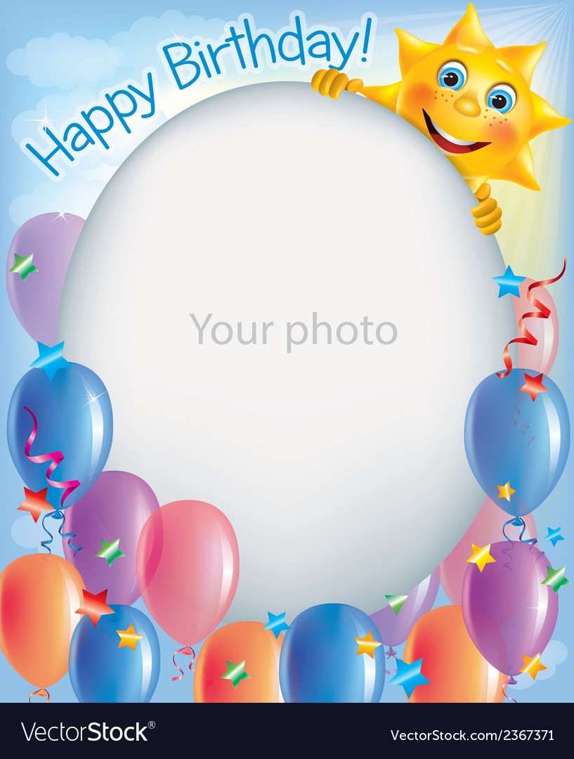 Birthday frames for photos 2 Royalty Free Vector Image