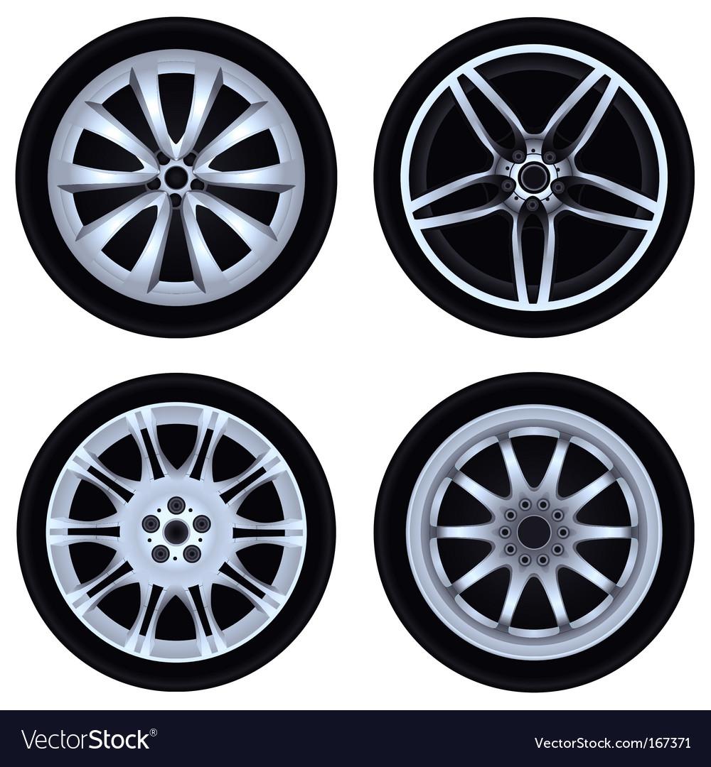 Chrome wheel vector image